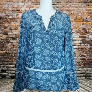Floral Top with Lace Details